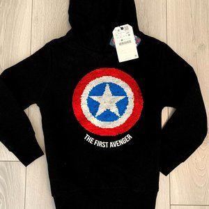 Captain America Hoodie Sz 7 from Zara